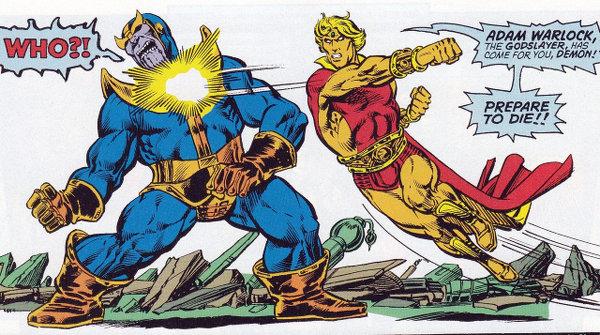 Thanos et Adam Warlock