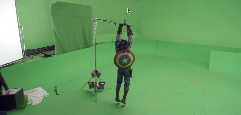 Captain America - Image avant traitement
