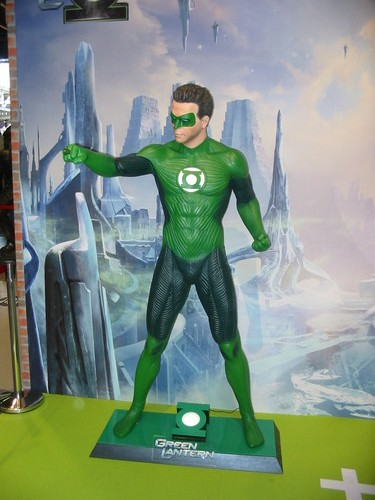 Green Lantern sur le stand Warner
