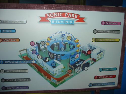 Sonic Park sur le stand Sega