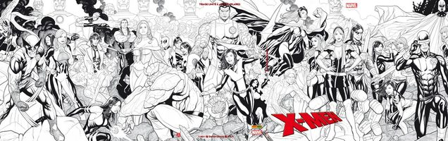 X-Men 1 n&b