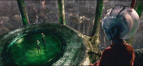 Hal Jordan, Sinestro et un Gardien sur Oa