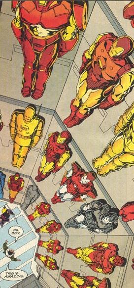 Les armures d'Iron Man