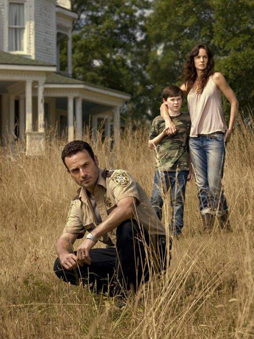 Walking Dead Rick Carl et Lori