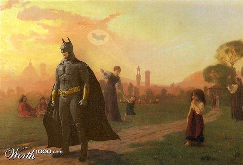 Peinture et super héros