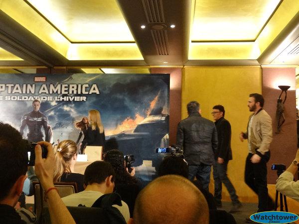Conférence de presse Captain America 2