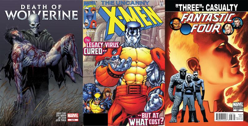 La mort des super-héros chez Panini Comics