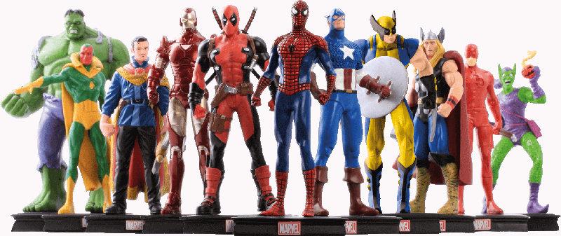 Figurines super-héros Marvel Panini