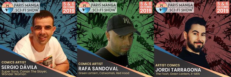 Paris Manga & Sci-Fi Show 28 : Sergio Davila,Rafa Sandoval et Jordi Tarragona