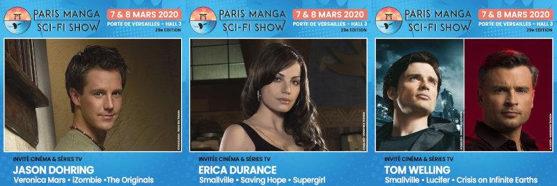 Paris Manga & Sci-Fi Show 29 : Jason Dohring, Erica Durance, Tom Welling