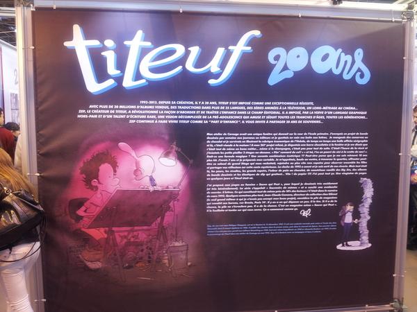 Expo Titeuf (salon du livre 2013)
